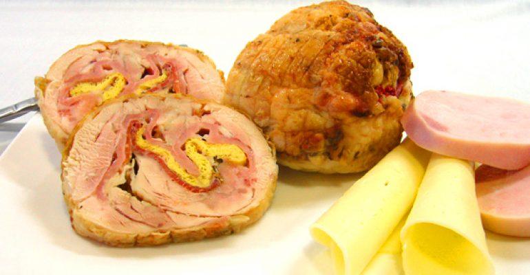 Pollo relleno con jamón y queso