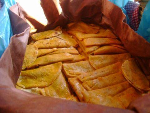 Tacos Sudados o de Canasta